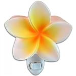 WHITE & YELLOW PLUMERIA NIGHT LIGHT