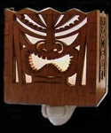 WOOD TIKI NIGHT LIGHT