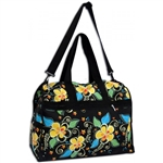 ISLAND PLUMERIA CANVAS DUFFEL BAG