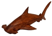 "7-1/2"" HAND CARVED WOOD HAMMERHEAD SHARK"