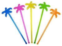 "7"" PALM TREE STIR STICKS / 100"