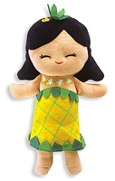 PLUSH PINEAPPLE PRINCESS DOLL