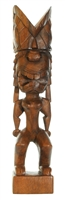 "16"" HAND CARVED WOOD KU TIKI STATUE"