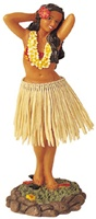 "7"" FLOWER POSE DASHBOARD HULA DOLL"
