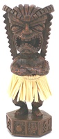 "7"" GOD OF MONEY HULA TIKI DASHBOARD DOLL"