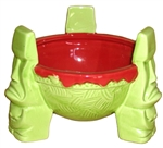 DREI MOAI RED & GREEN SCORPION BOWL - LIMITED EDITION - RETIRED