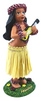 "4"" UKULELE HULA GIRL DASHBOARD DOLL"