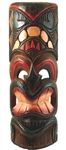 "20"" PAINTED WOOD TIKI MASK"