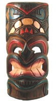 "12"" PAINTED WOOD TIKI MASK"