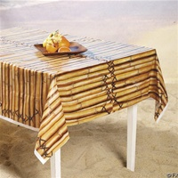 PLASTIC BAMBOO TABLE COVER