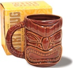 DOUBLE-SIDED TIKI FACE CERAMIC MUG