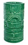 MONEY GREEN CERAMIC TIKI MUG