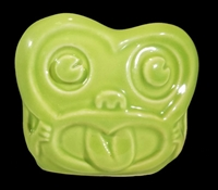 MINKY MAORI MONKEY HEAD TIKI MUG - GREEN - LIMITED EDITION