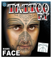 MEN'S MAORI MOKO TEMPORARY FACE TATTOO KIT (1)