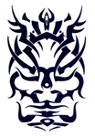 STYLIZE TRIBAL FACE DESIGN TEMPORARY TATTOO
