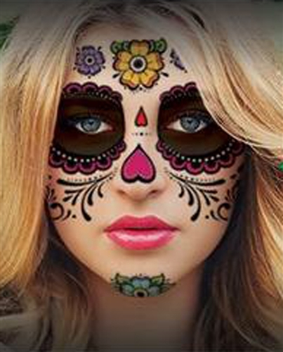 Individual Face Painting For Day Of The Dead