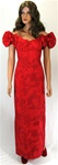 PRINCESS KAIULANI RED PRINT DRESS-SIZE 6 - PRE-OWNED
