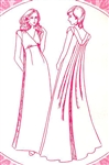 VINTAGE EMPIRE WATERFALL BACK DRESS PATTERN - Sizes 8-18 - Pacifica 3079