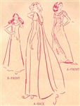 VINTAGE UNCUT WATERFALL BACK DRESS PATTERN - Sizes 8, 12, 16 - Pacifica 3040