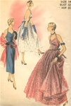 VINTAGE UNCUT 1950S HALTER EVENING DRESS PATTERN - Size 14 - Advance 5660