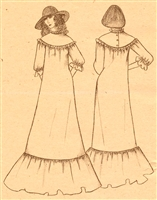 VINTAGE UNCUT MUUMUU DRESS PATTERN - Sizes S-XL - Pauloa 1004