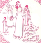 VINTAGE UNCUT HOLOKU WEDDING DRESS/MUUMUU PATTERN - SIZE 18 - Pacifica 3009