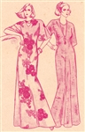 VINTAGE UNCUT MUUMUU DRESS PATTERN - ALL SIZES - Pacifica 3200