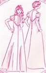 VINTAGE VICTORIAN DRESS PATTERN - Size 8 - Pacifica 3022