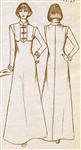 VINTAGE UNCUT ASIAN DRESS PATTERN - SIZES 6/10/14/18 - Pauloa 1001A