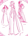 VINTAGE WATERFALL BACK DRESS PATTERN - Size 16 - Pacifica 3040