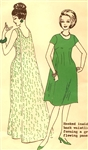 VINTAGE WATERFALL BACK DRESS PATTERN - Size 16 - POLYNESIAN 150