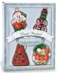 GLASS TROPICAL HOLIDAY MINI ORNAMENT SET / 4