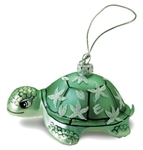 GLASS HONU TURTLE CHRISTMAS ORNAMENT