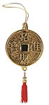 GLASS ASIAN LUCKY GOLD COIN ORNAMENT