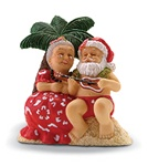 SERENADING SANTA RESIN ORNAMENT