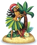 HOLIDAY HULA HONEYS RESIN ORNAMENT