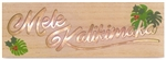 Mele Kalikimaka Pressed Wood Lighted Box Christmas Sign
