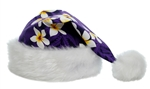 TROPICAL SANTA HAT - PURPLE