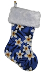 TROPICAL CHRISTMAS STOCKING - BLUE