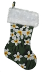 TROPICAL CHRISTMAS STOCKING - GREEN