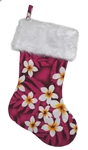 TROPICAL CHRISTMAS STOCKING - PINK