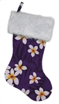 TROPICAL CHRISTMAS STOCKING - PURPLE